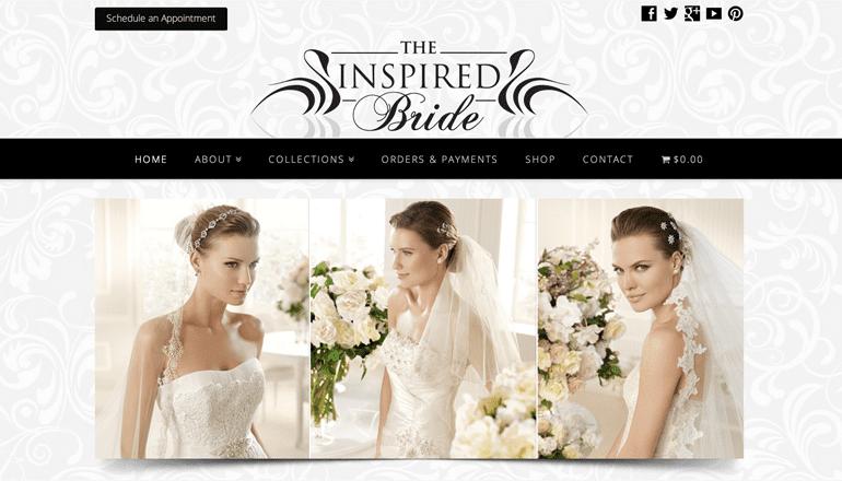 The Inspired Bride Website Design